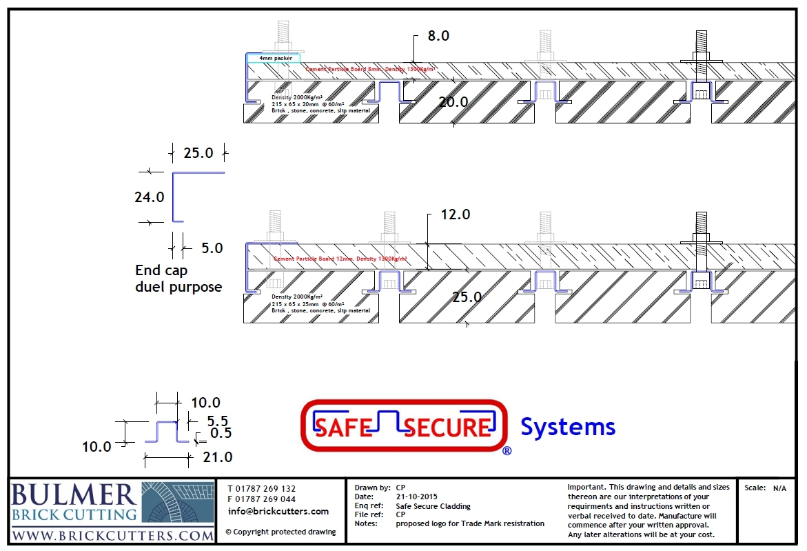 details of reinfoced brick cladding system Safe Secure